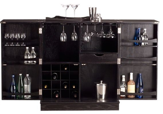 Steamer Bar Cabinet - Contemporary - Wine And Bar Cabinets - by Crate&Barrel