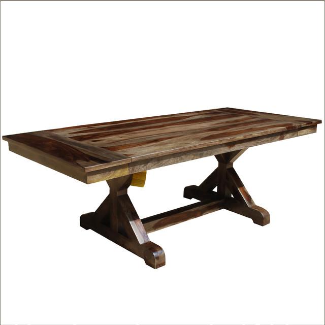 Solid Wood Trestle Pedestal 66 Nottingham Dining Table W