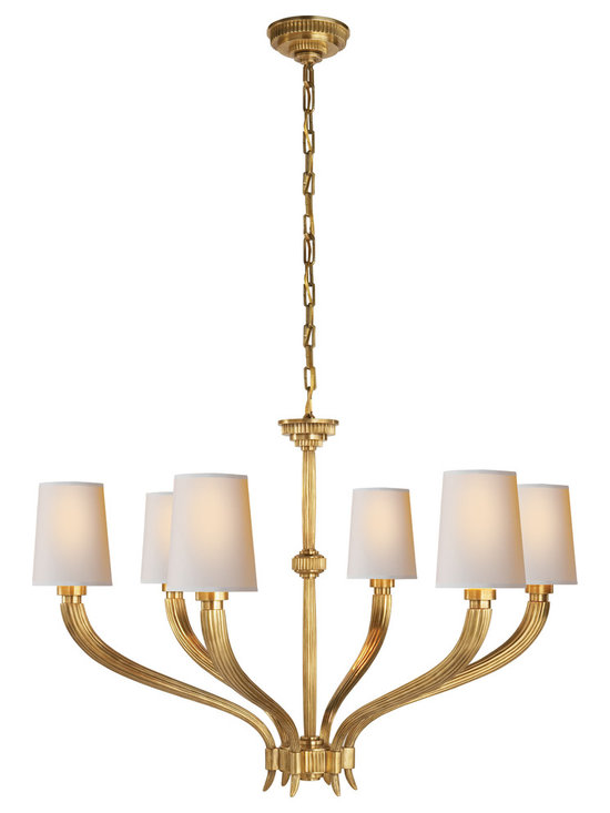 "Ruhlmann Large Chandelier - Canopy: 5"" Round"