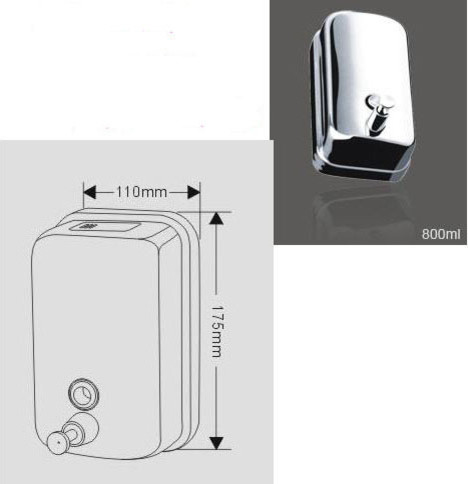 800ML Wall Mounted Soap Dispenser contemporary-toilet-accessories
