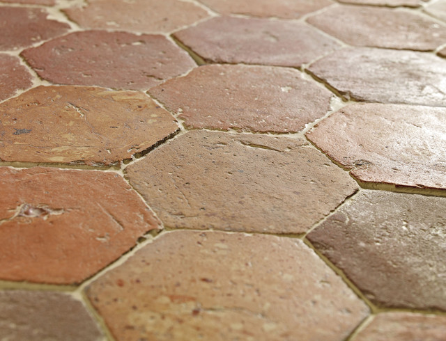 Hexagon Handmade Clay Floor Tiles Traditional Wall And Floor Tile