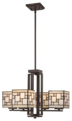 Quoizel Specter TFSC5004WT Chandelier - 21W in. - Western Bronze modern-chandeliers