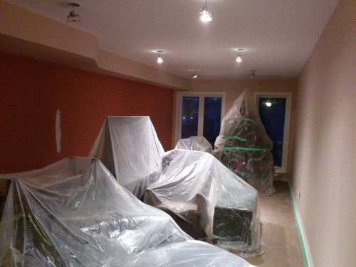 Painting Preparation and Floor Coverage