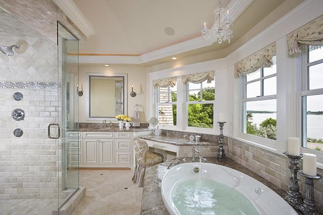 Large master bathroom traditional-bathroom