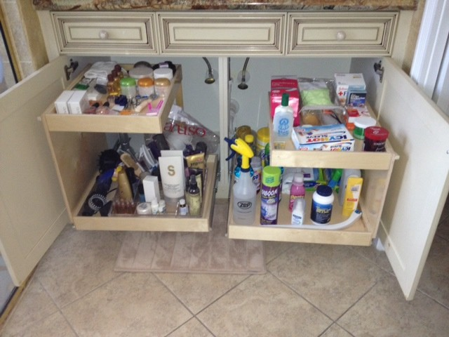 Under Sink Pull Out Shelves Bathroom Cabinets And