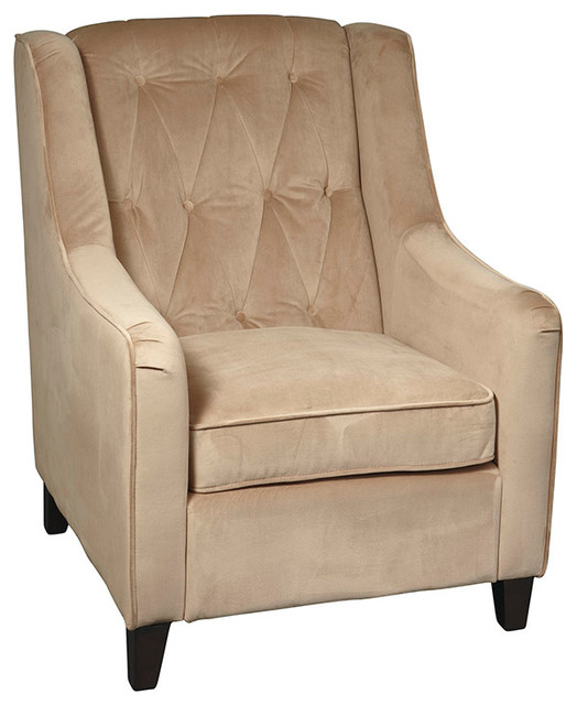 Office star avenue six curves tufted accent chair in for Ave six curves velvet chaise lounge