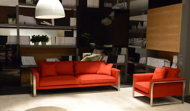 Boston Sofa in Red Paprika Fabric contemporary-sofas