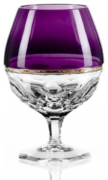 Waterford Elysian Amethyst Brandy Glasses, Set of 2 contemporary-wine-glasses