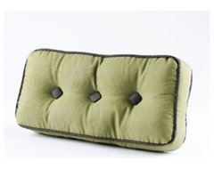 Quilted Green Pillow, Small traditional-pillows