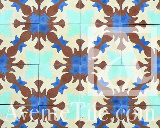 "Traditional Ocoa Cement Tile 8"" x 8"" -"