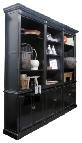 Whether you're stashing tomes or displaying your home accents, the Solid Woo traditional-storage-cabinets