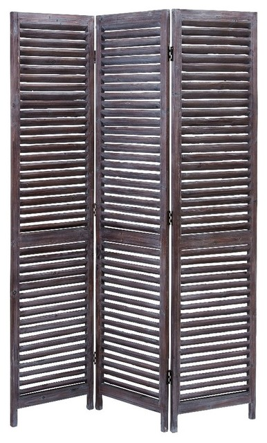 Contemporary wood room divider privacy screen natural for Rustic outdoor privacy screens