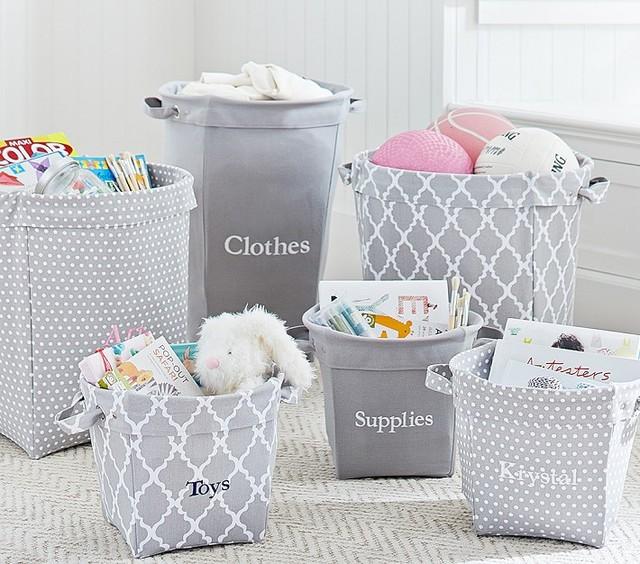 Gray Canvas Storage - Baskets - san francisco - by Pottery Barn Kids