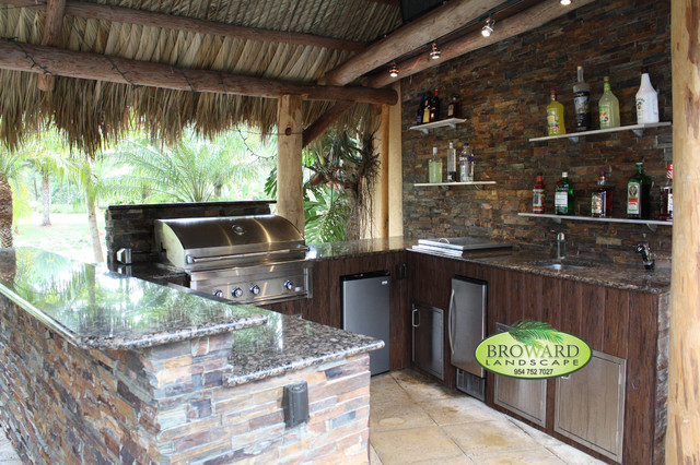 outdoor kitchen tropical patio miami by broward
