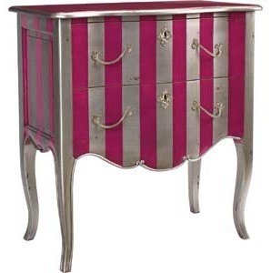 Pink/Silver Fontenay eclectic side tables and accent tables