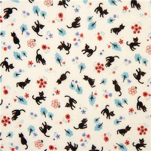 Cute Gauze Fabric Little Cat Flower Tree