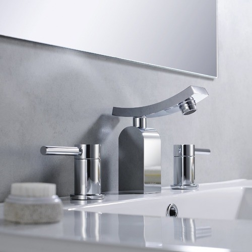 Bathroom Combos Widespread Waterfall Unicus Faucet with Double Handles modern-bath-products