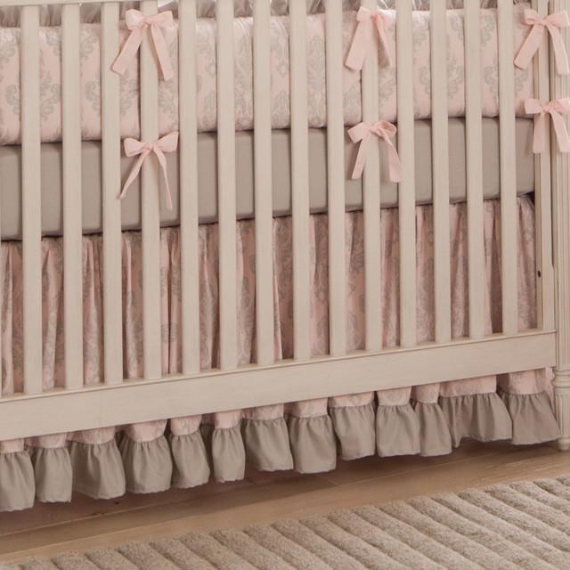 Paris Script Crib Skirt traditional-baby-and-kids