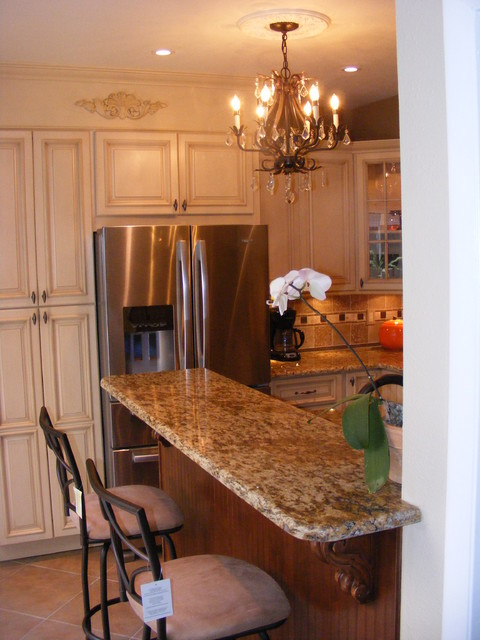 Tuscany and Brandywine Combination mediterranean kitchen cabinets