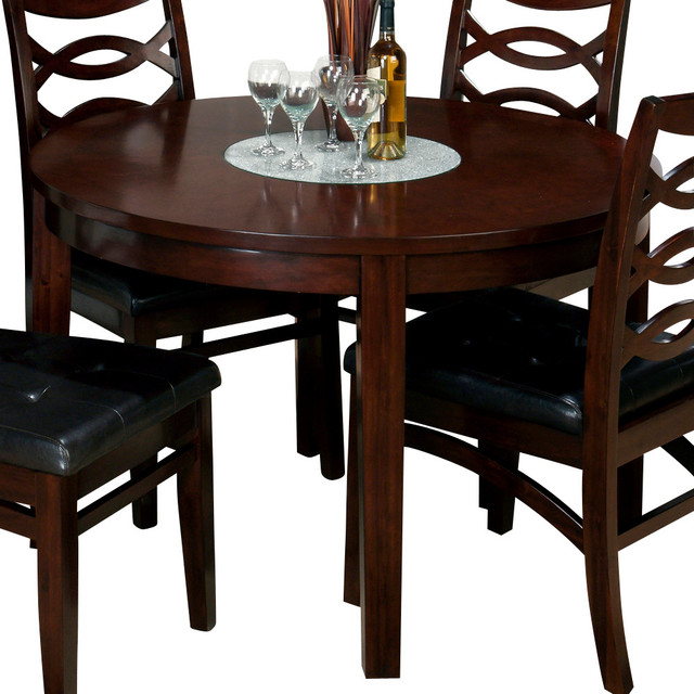 Jofran Chadwick Counter Height Table With Corner Bench And: Jofran 863-48 Chadwick Round Dining Table With Crackled