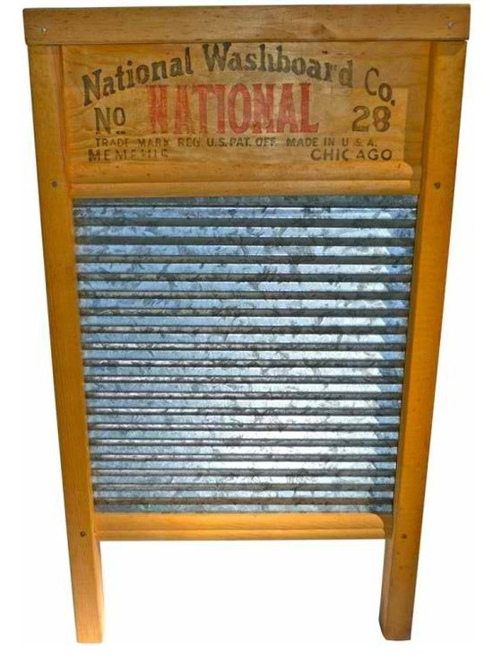 Galvanized Washboard - Antique National Washboard Company Washboard No. 28 Galvanized.