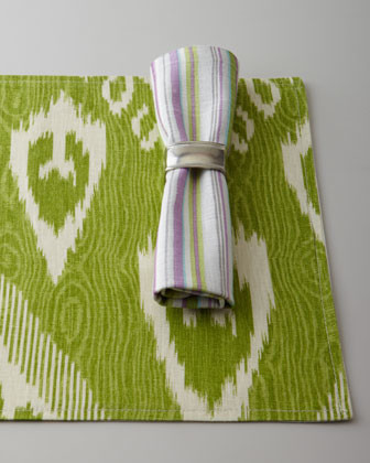 "French Laundry Home Four ""Pretty Purple"" Striped Napkins traditional-napkins"