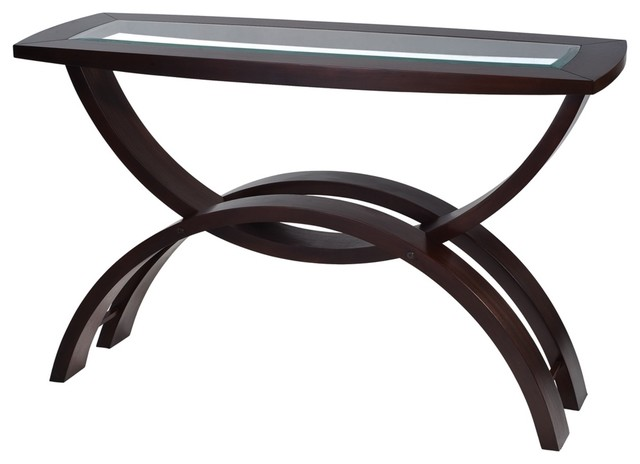 Contemporary Helix Collection Rectangular Sofa Table contemporary-side-tables-and-end-tables