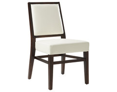 Citizen Dining Chair, Ivory contemporary dining chairs and benches