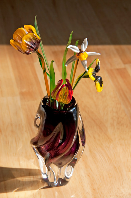 Glass Floral traditional-artwork