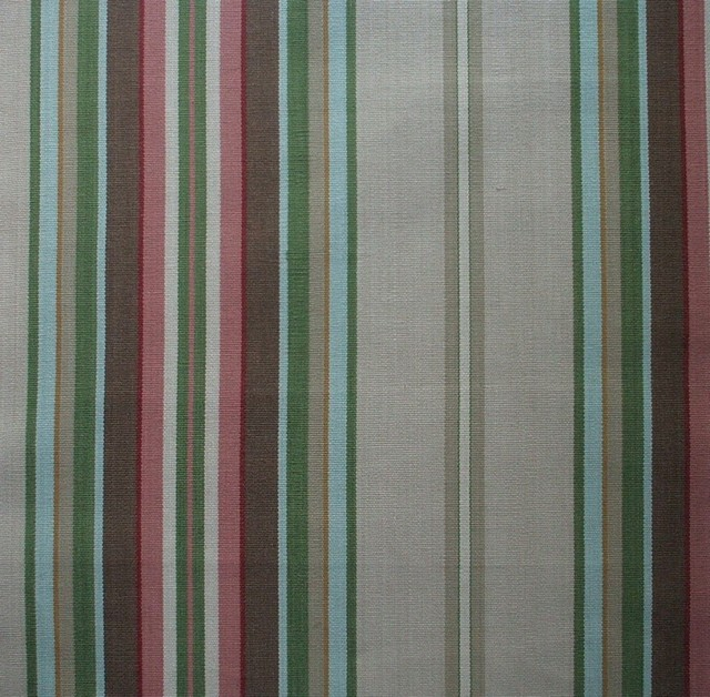 72 Shower Curtain Unlined Carlton Stripe Linen Beige Traditional