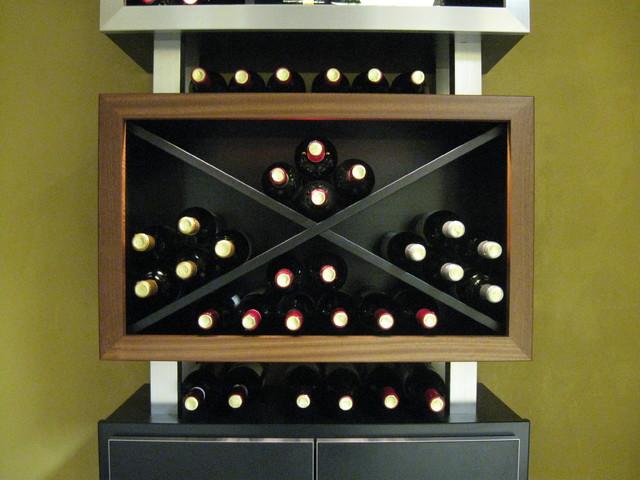 Kessick Contemporary Wine racking contemporary-storage-and-organization