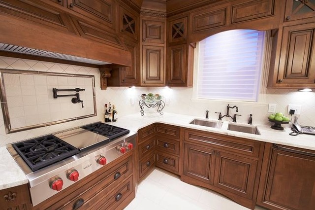 French Chateau Home Cabinetry Design traditional-kitchen
