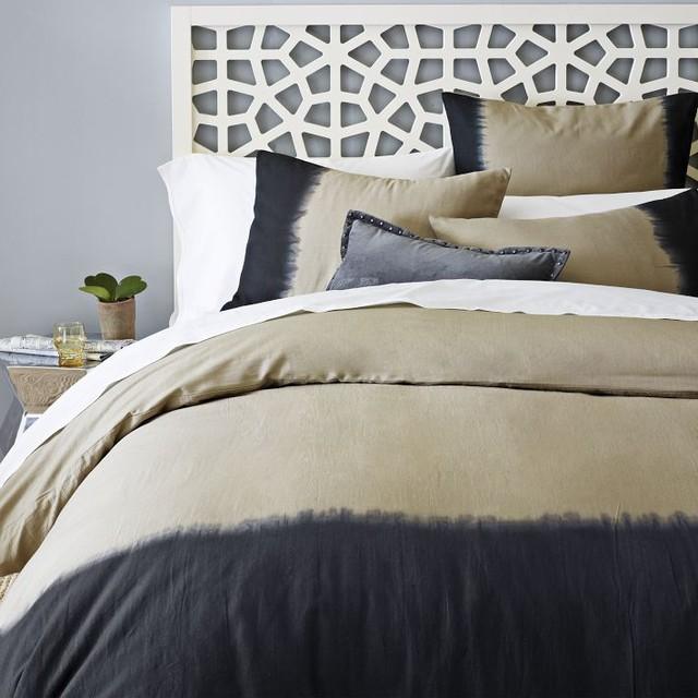Dip-Dye Linen Cotton Blend Duvet Cover duvet-covers