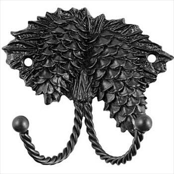 Sierra Lifestyles Decorative Hook - Pinecone - Black traditional-wall-hooks