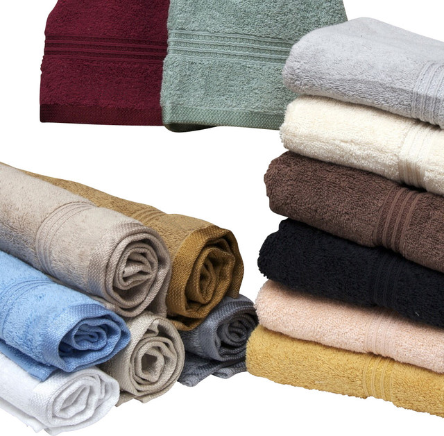 HC Superior Egyptian Cotton 600GSM Eight Piece Hand Towel Set traditional-towels