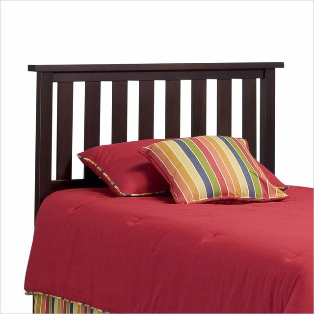 Fashion Bed Belmont Wood Headboard in Merlot-Twin transitional-headboards