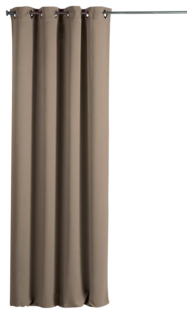 "Blackout Window Curtain Panel Square Grommets Cocoon Beige 55""W x 102''L - Traditional ..."