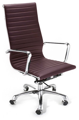 Eames Style Modern Conference Office Chair High Back Brown contemporary-task-chairs