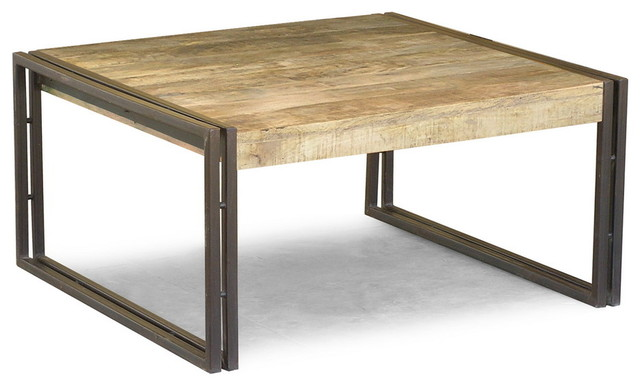 Reclaimed wood square coffee table eclectic coffee tables san