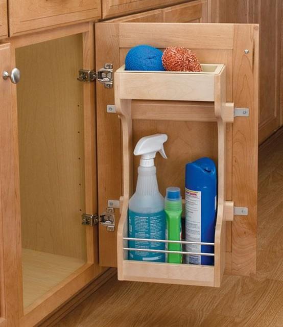 Rev-A-Shelf Small Sink Base Door Storage Organizer traditional-closet-organizers