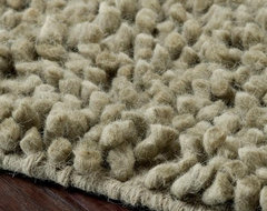 Hand-Woven Nimbus Sage Green Wool Rug contemporary-rugs