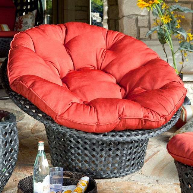 Haven All Weather Wicker Outdoor Papasan Chair modern-patio-furniture-and-outdoor-furniture