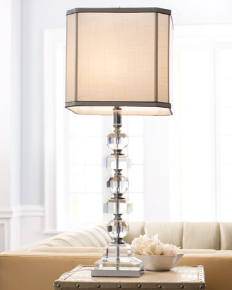 Stacked Crystals Table Lamp traditional-table-lamps