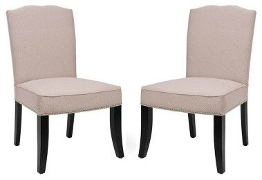 Safavieh Isabella Tan Linen Dining Side Chairs - Set of 2 modern-dining-sets