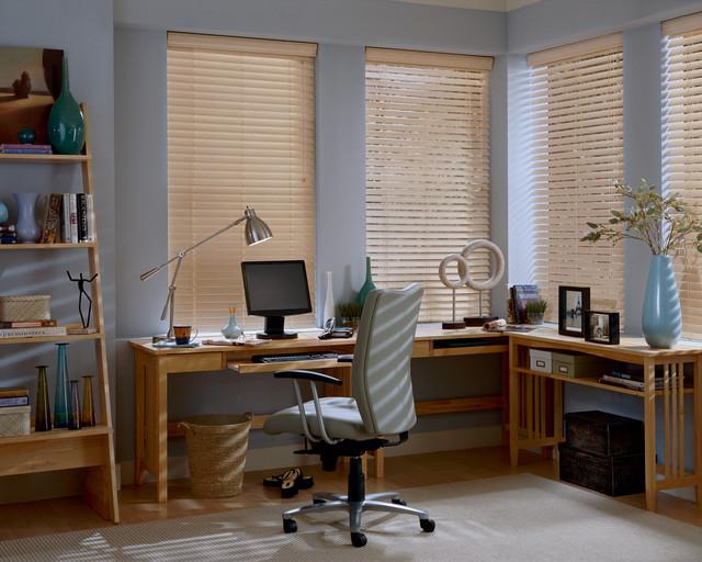 EverWood® alternative wood blinds PowerTilt™ with Platinum™ Technology contemporary-window-blinds