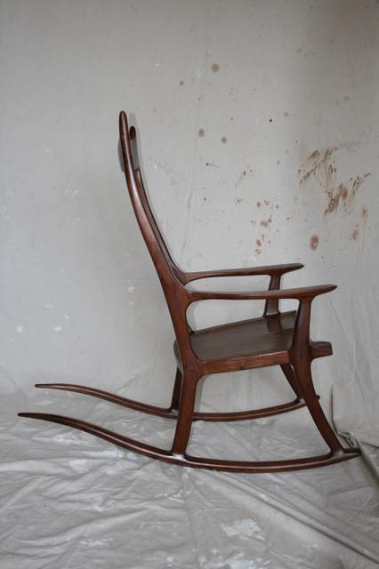 Texas Walnut Rocking Chair Traditional Rocking Chairs