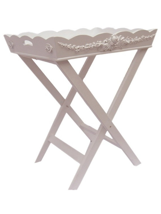 Charn&Co. - Bella Folding Tray Table - Bella Folding Tray Table is the perfect living room and dining accessory for cottage and shabby chic style decor