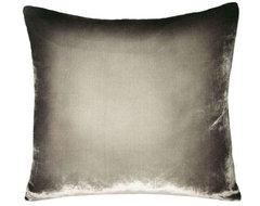Ombré Velvet Pillow, Dove Gray contemporary-decorative-pillows