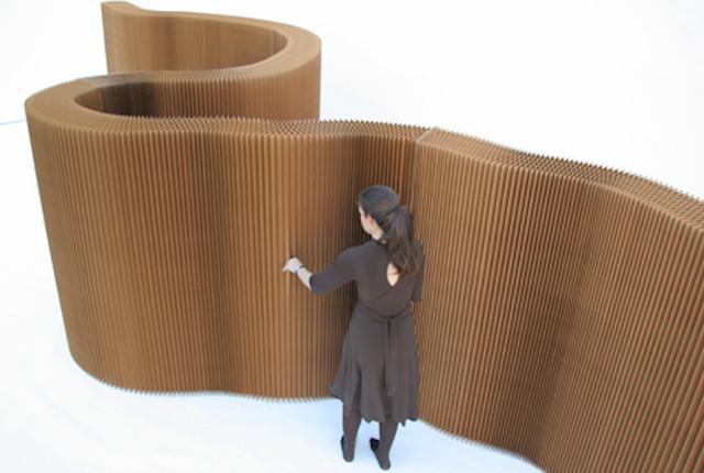 Natural Brown Kraft Paper Softwall modern-screens-and-wall-dividers
