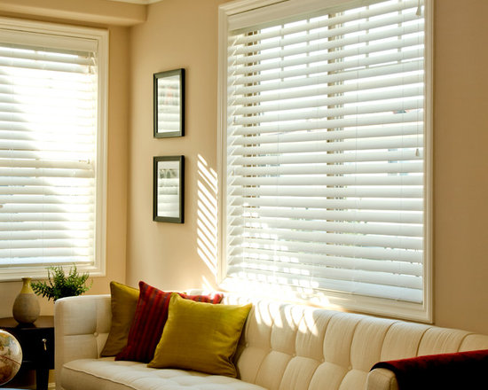 """Norman Ultimate 2"""" Faux Wood Blinds - The Ultimate 2"""" Fauxwood Blind comes standard with non-slip the patented SmartPrivacy slats for perfect privacy and slat closure."""